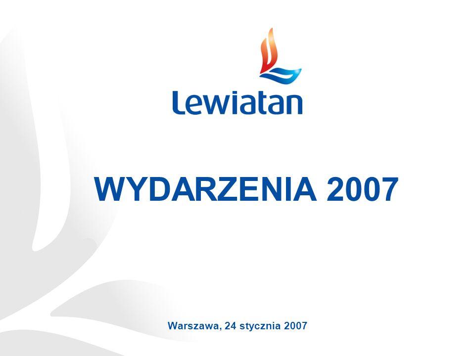 WYDARZENIA 2007 Warszawa, 24 stycznia 2007