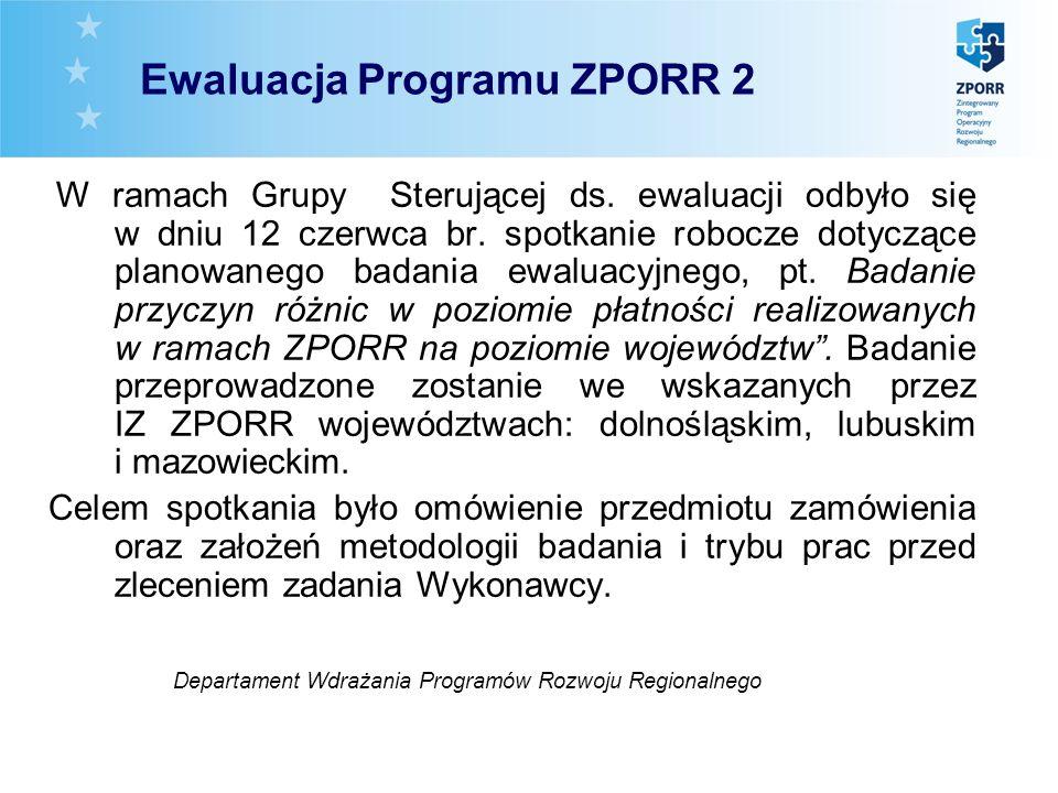 W ramach Grupy Sterującej ds. ewaluacji odbyło się w dniu 12 czerwca br. spotkanie robocze dotyczące planowanego badania ewaluacyjnego, pt. Badanie pr