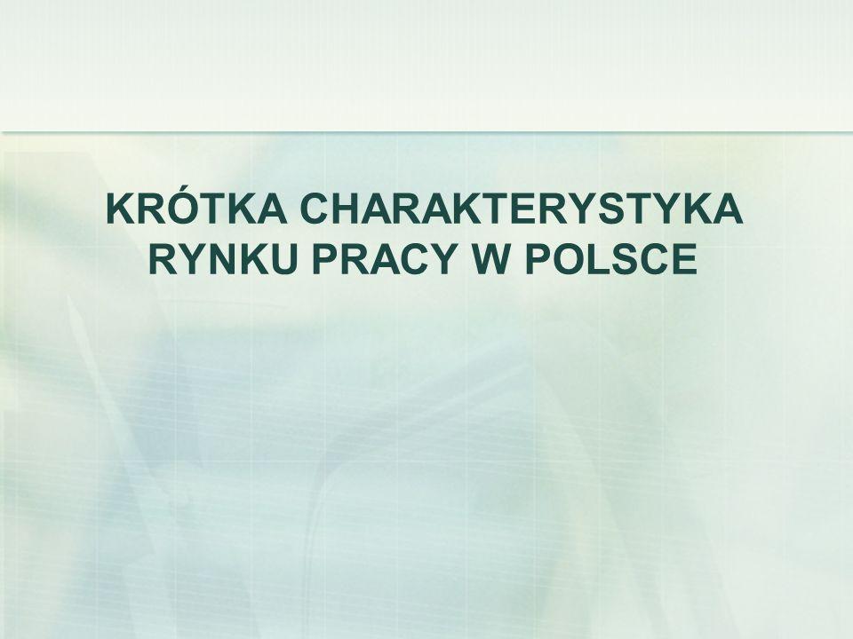 KRÓTKA CHARAKTERYSTYKA RYNKU PRACY W POLSCE