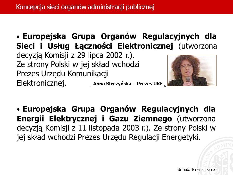 Europejska Grupa Organów Regulacyjnych dla Sieci i Usług Łączności Elektronicznej (utworzona decyzją Komisji z 29 lipca 2002 r.). Europejska Grupa Org