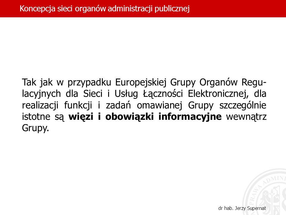 Tak jak w przypadku Europejskiej Grupy Organów Regu- lacyjnych dla Sieci i Usług Łączności Elektronicznej, dla realizacji funkcji i zadań omawianej Gr