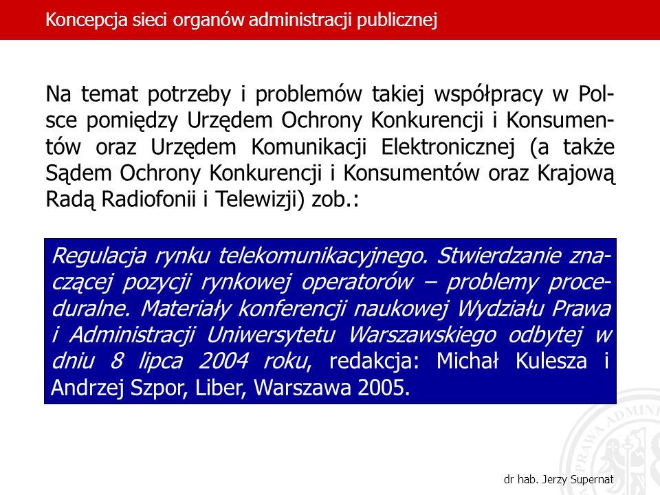 Na temat potrzeby i problemów takiej współpracy w Pol- sce pomiędzy Urzędem Ochrony Konkurencji i Konsumen- tów oraz Urzędem Komunikacji Elektroniczne