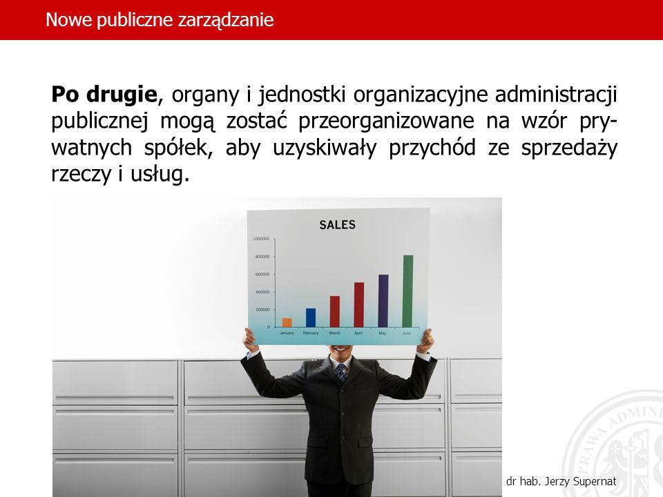 12 Po drugie, organy i jednostki organizacyjne administracji publicznej mogą zostać przeorganizowane na wzór pry- watnych spółek, aby uzyskiwały przyc