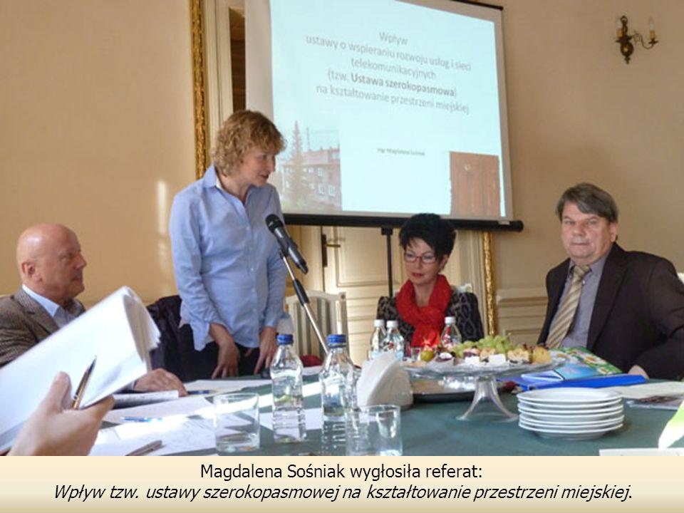 Magdalena Sośniak wygłosiła referat: Wpływ tzw.