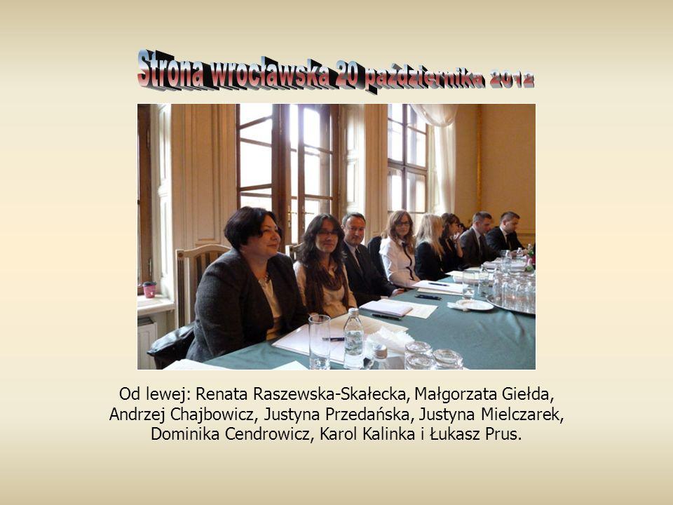 Od lewej: Renata Raszewska-Skałecka, Małgorzata Giełda, Andrzej Chajbowicz, Justyna Przedańska, Justyna Mielczarek, Dominika Cendrowicz, Karol Kalinka i Łukasz Prus.