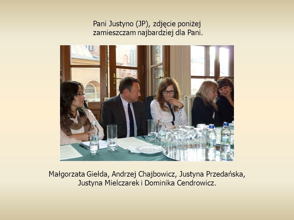 Małgorzata Giełda, Andrzej Chajbowicz, Justyna Przedańska, Justyna Mielczarek i Dominika Cendrowicz.