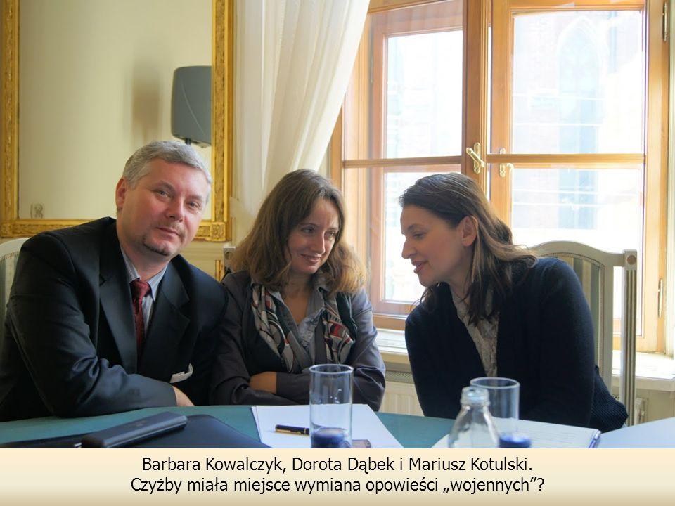 Barbara Kowalczyk, Dorota Dąbek i Mariusz Kotulski.