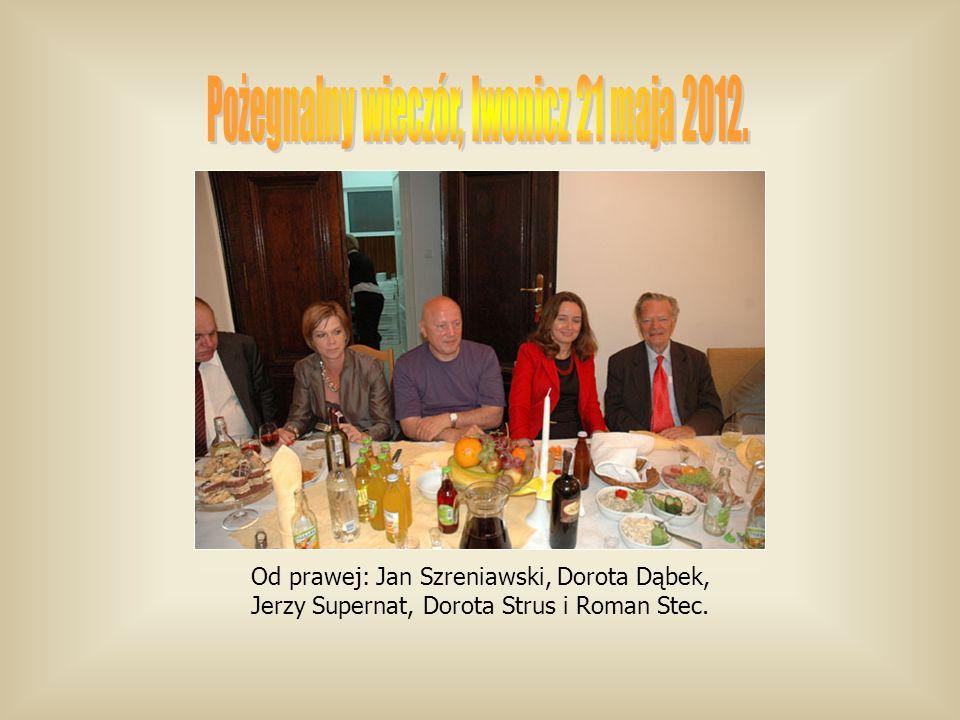 Od prawej: Jan Szreniawski, Dorota Dąbek, Jerzy Supernat, Dorota Strus i Roman Stec.