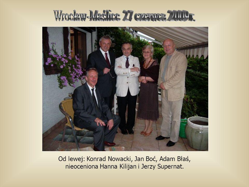 Od lewej: Konrad Nowacki, Jan Boć, Adam Błaś, nieoceniona Hanna Kilijan i Jerzy Supernat.