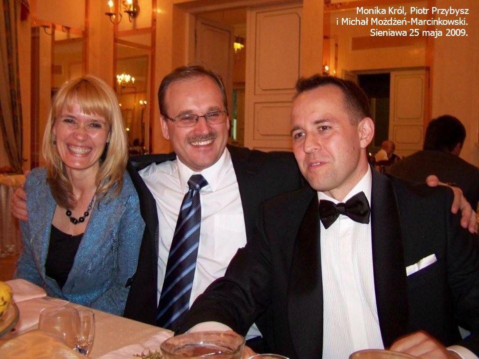Monika Król, Piotr Przybysz i Michał Możdżeń-Marcinkowski. Sieniawa 25 maja 2009.