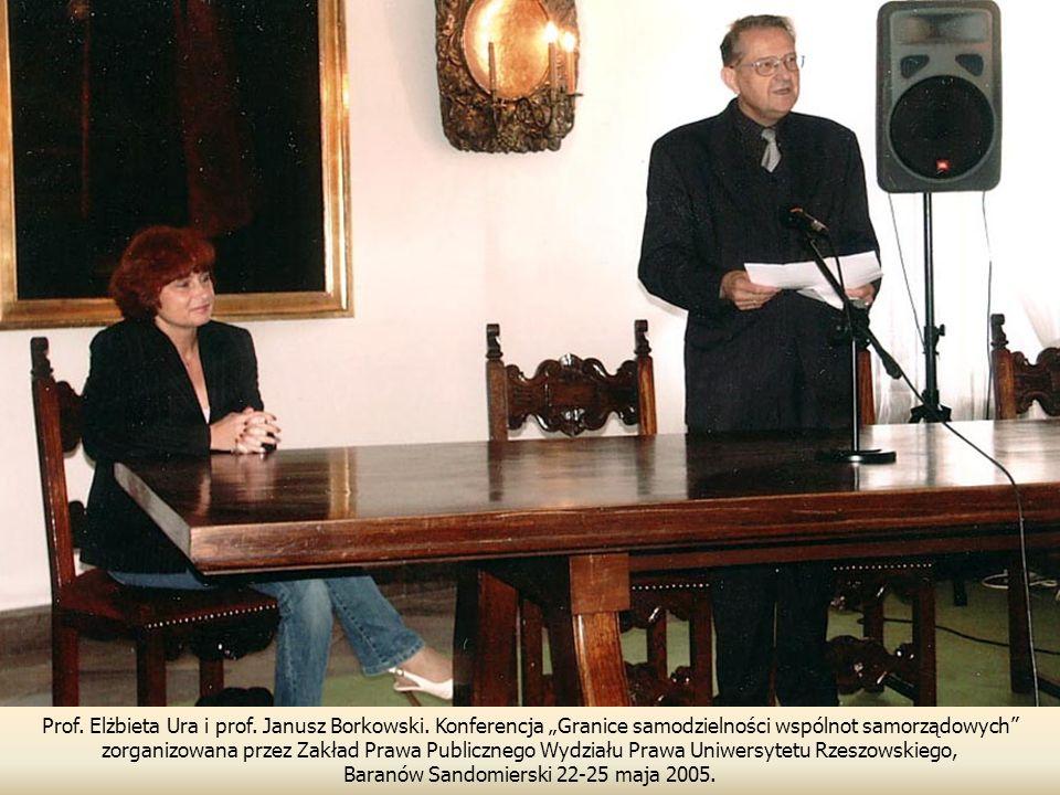 Prof.Elżbieta Ura i prof. Janusz Borkowski.