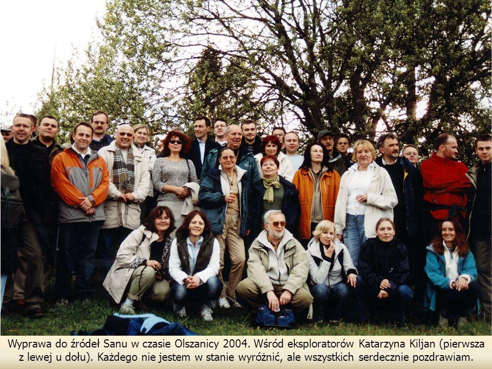 Wyprawa do źródeł Sanu w czasie Olszanicy 2004.