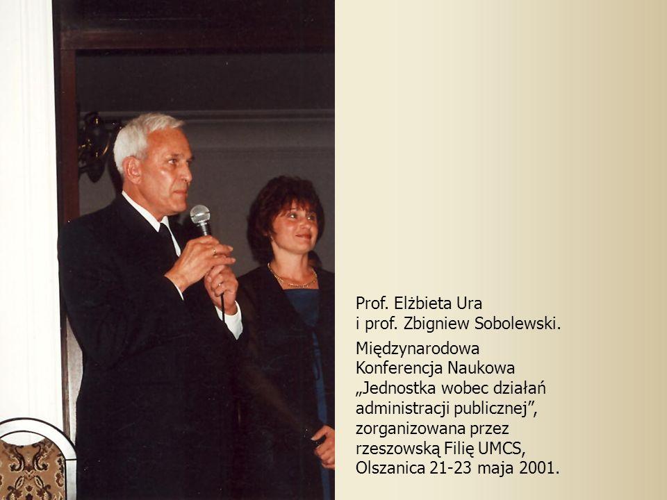 Prof.Elżbieta Ura i prof. Zbigniew Sobolewski.