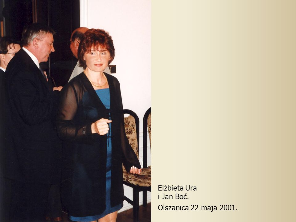 Elżbieta Ura i Jan Boć. Olszanica 22 maja 2001.