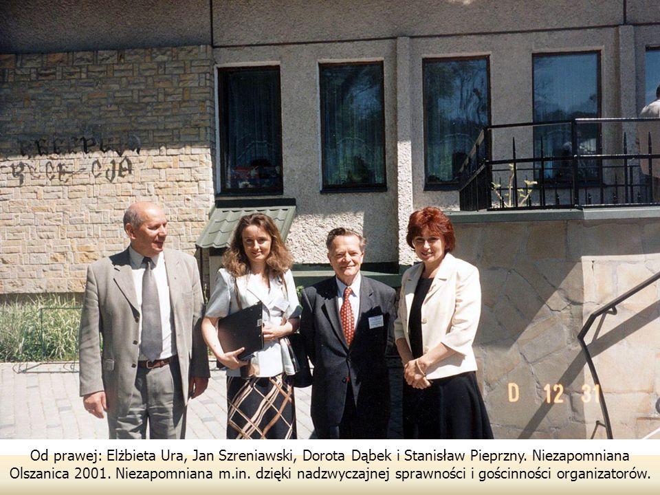 Od prawej: Elżbieta Ura, Jan Szreniawski, Dorota Dąbek i Stanisław Pieprzny.