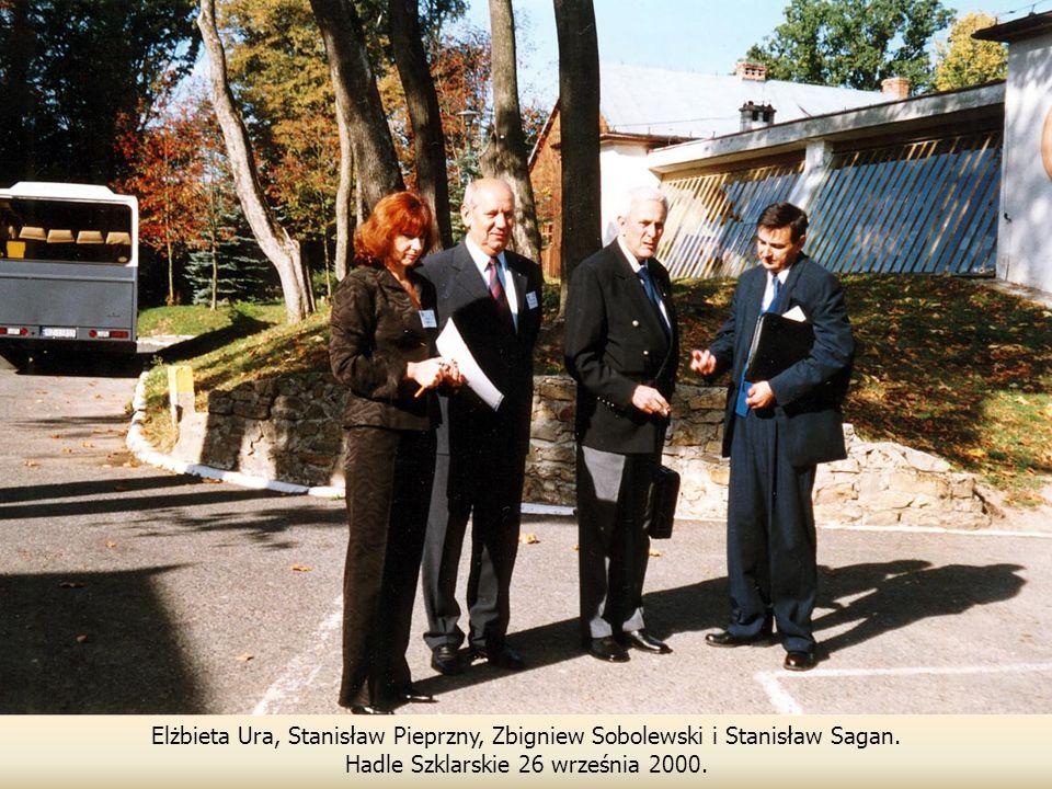 Elżbieta Ura, Stanisław Pieprzny, Zbigniew Sobolewski i Stanisław Sagan.