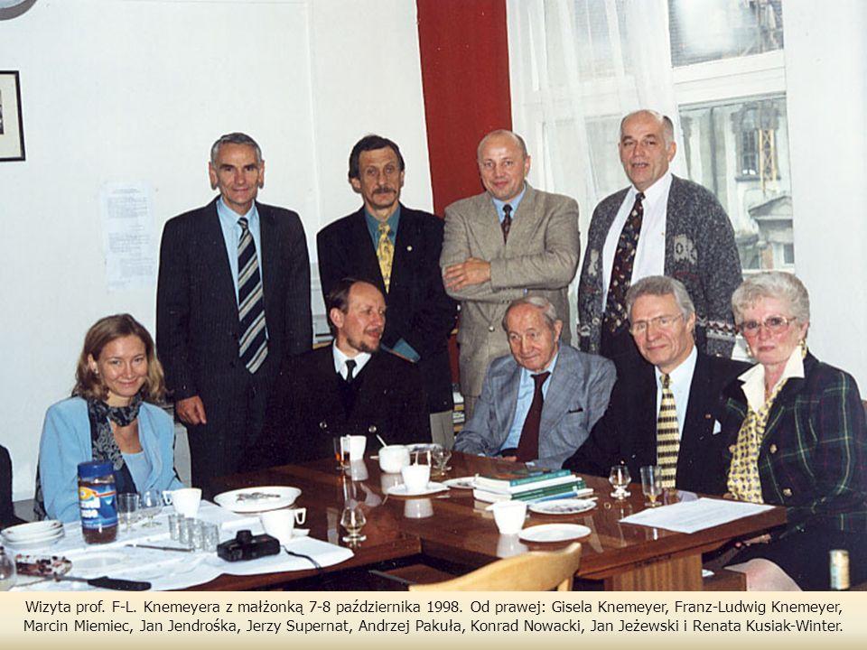 Wizyta prof.F-L. Knemeyera z małżonką 7-8 października 1998.