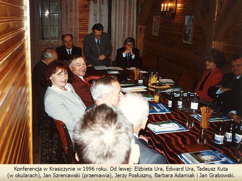 Konferencja w Krasiczynie w 1996 roku.