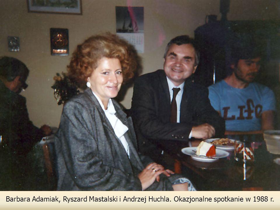 Barbara Adamiak, Ryszard Mastalski i Andrzej Huchla. Okazjonalne spotkanie w 1988 r.