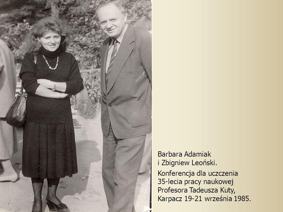 Barbara Adamiak i Zbigniew Leoński.