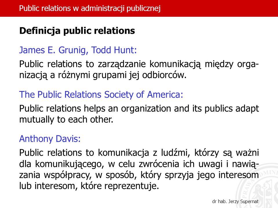 Autorytet formalny i status kierownika Role interpersonalne Role informacyjne (!) Role decyzyjne Public relations w administracji publicznej dr hab.