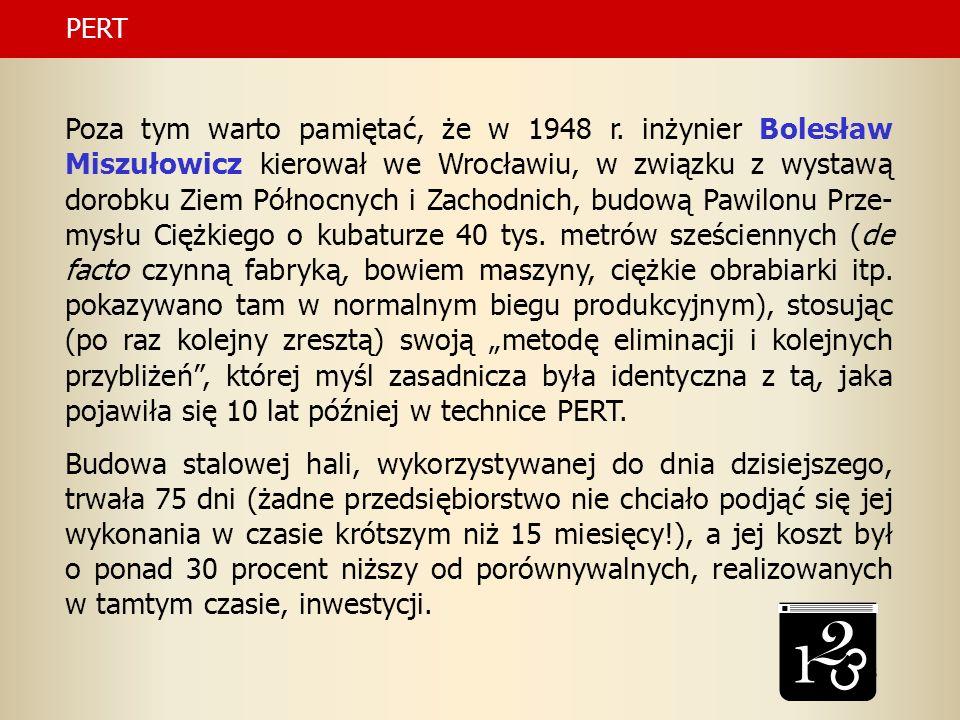 43 Poza tym warto pamiętać, że w 1948 r. inżynier Bolesław Miszułowicz kierował we Wrocławiu, w związku z wystawą dorobku Ziem Północnych i Zachodnich