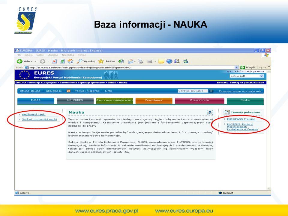 Baza informacji - NAUKA