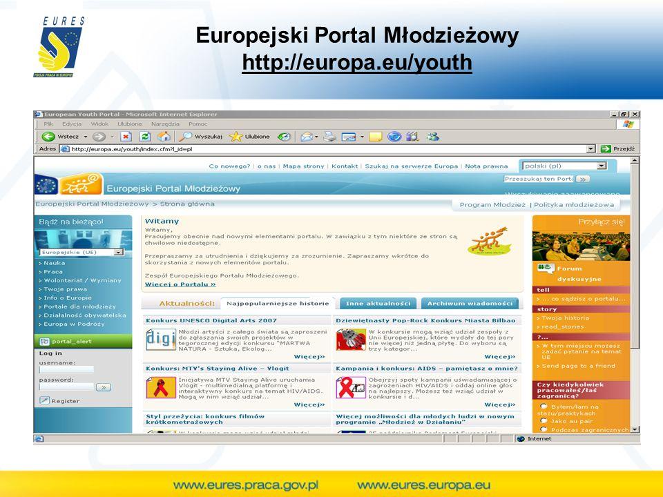 Europejski Portal Młodzieżowy http://europa.eu/youth