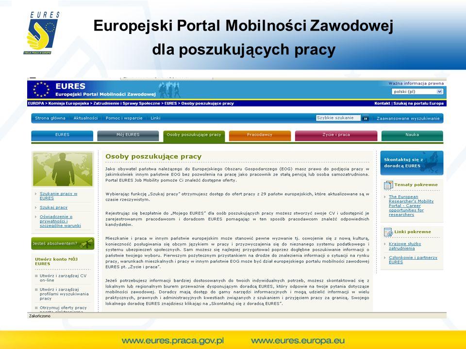 Europejski Portal Mobilności Zawodowej dla poszukujących pracy
