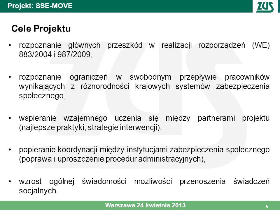 7 Projekt: SSE-MOVE I faza: Analiza danych II faza : Ocena przenoszalności (transferability) świadczeń emerytalnych na przykładzie pojedynczych biografii III faza: Proces wzajemnego uczenia się IV faza: Synteza i upowszechnianie wyników Projektu 7 Warszawa 24 kwietnia 2013 Cztery fazy Projektu