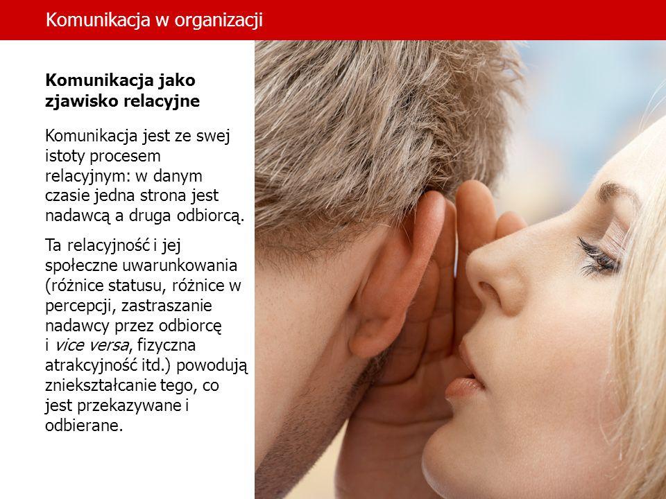 Komunikacja w organizacji dr hab.