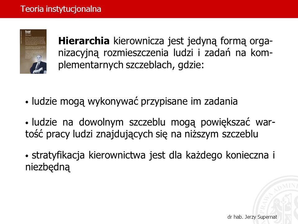 Teoria instytucjonalna dr hab.