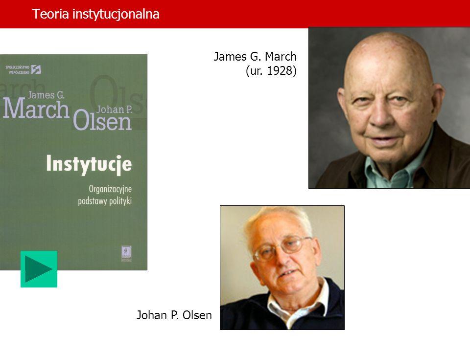 Teoria instytucjonalna dr hab.Jerzy Supernat James Q.