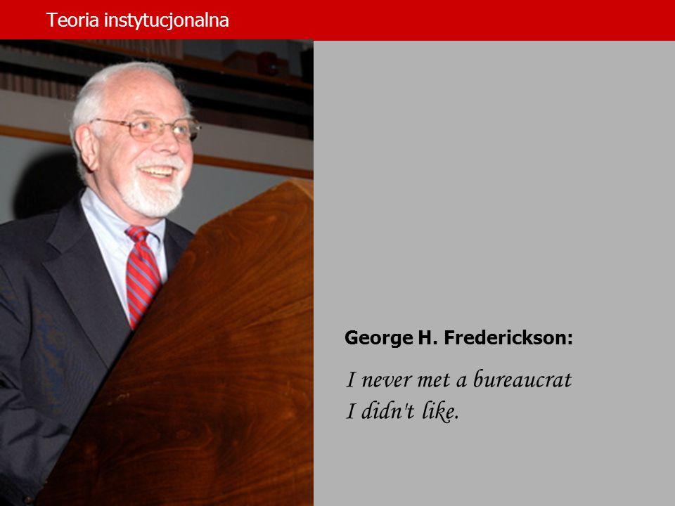 Teoria instytucjonalna dr hab.Jerzy Supernat George H.