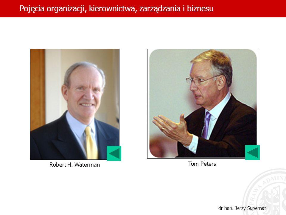 24 Robert H. Waterman Tom Peters Pojęcia organizacji, kierownictwa, zarządzania i biznesu dr hab. Jerzy Supernat