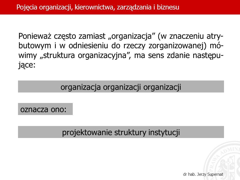 5 Ponieważ często zamiast organizacja (w znaczeniu atry- butowym i w odniesieniu do rzeczy zorganizowanej) mó- wimy struktura organizacyjna, ma sens z