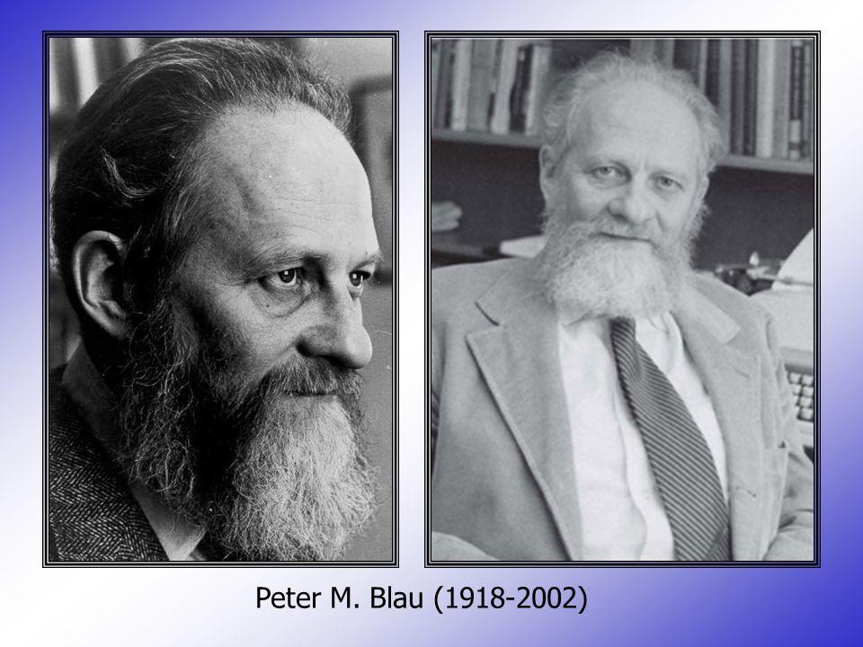 Peter M. Blau (1918-2002)