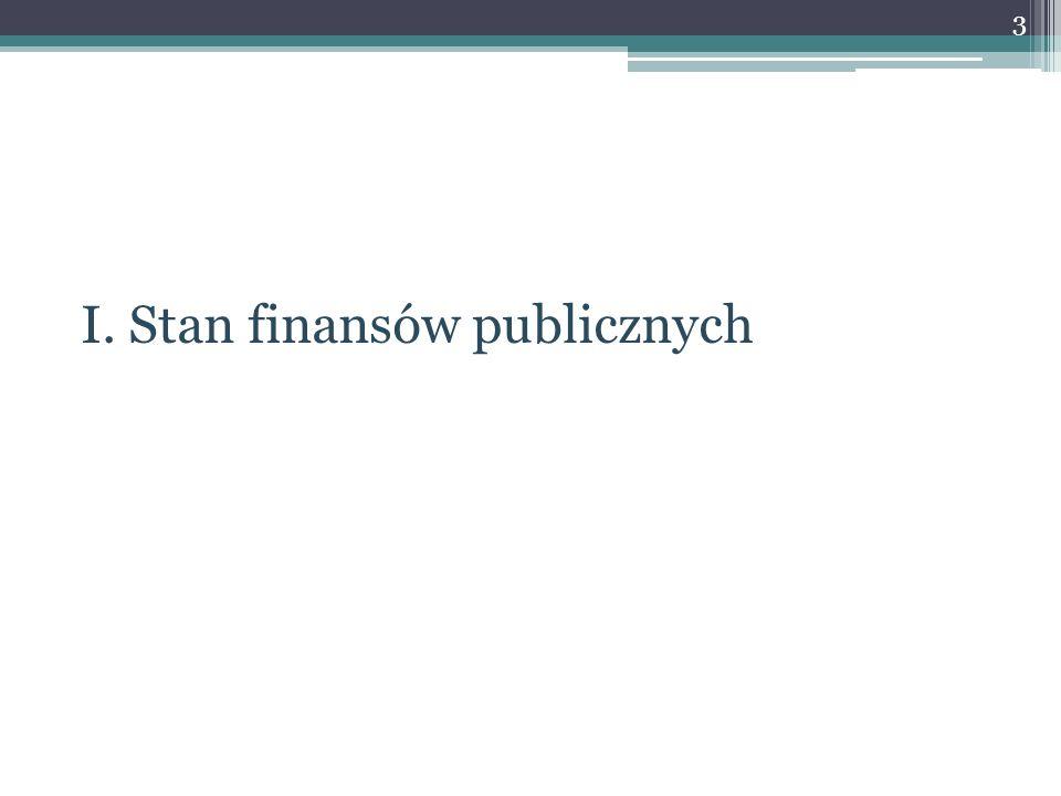 I. Stan finansów publicznych 3