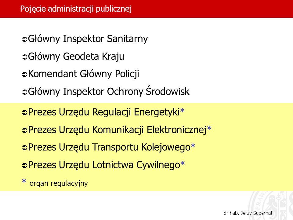 28 Pojęcie administracji publicznej dr hab. Jerzy Supernat Główny Inspektor Sanitarny Główny Geodeta Kraju Komendant Główny Policji Główny Inspektor O