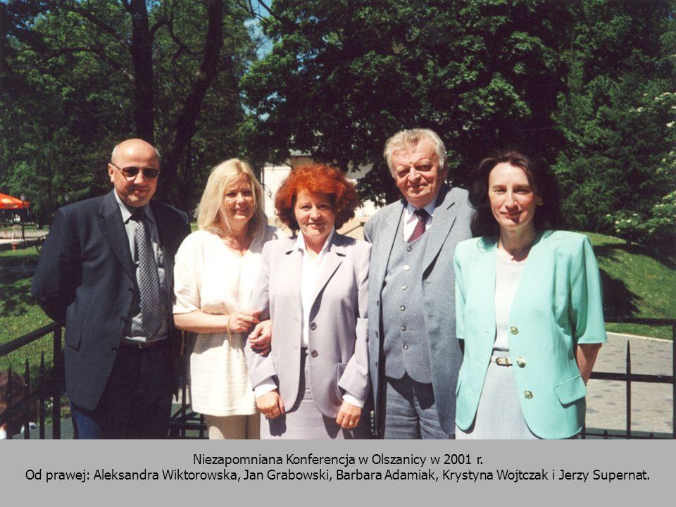 38 Niezapomniana Konferencja w Olszanicy w 2001 r. Od prawej: Aleksandra Wiktorowska, Jan Grabowski, Barbara Adamiak, Krystyna Wojtczak i Jerzy Supern