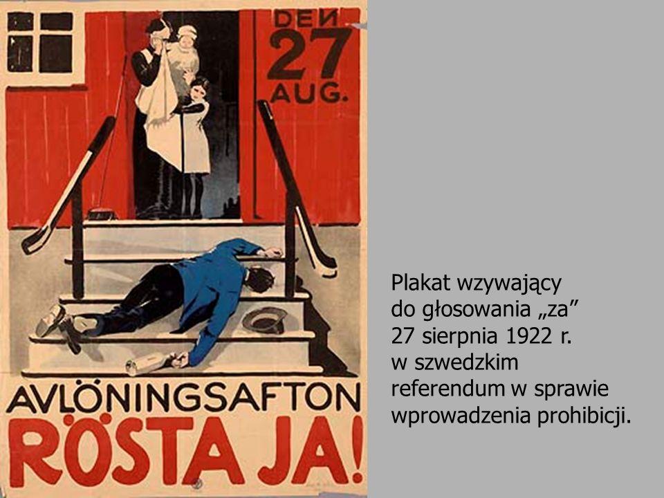 Plakat wzywający do głosowania za 27 sierpnia 1922 r. w szwedzkim referendum w sprawie wprowadzenia prohibicji.