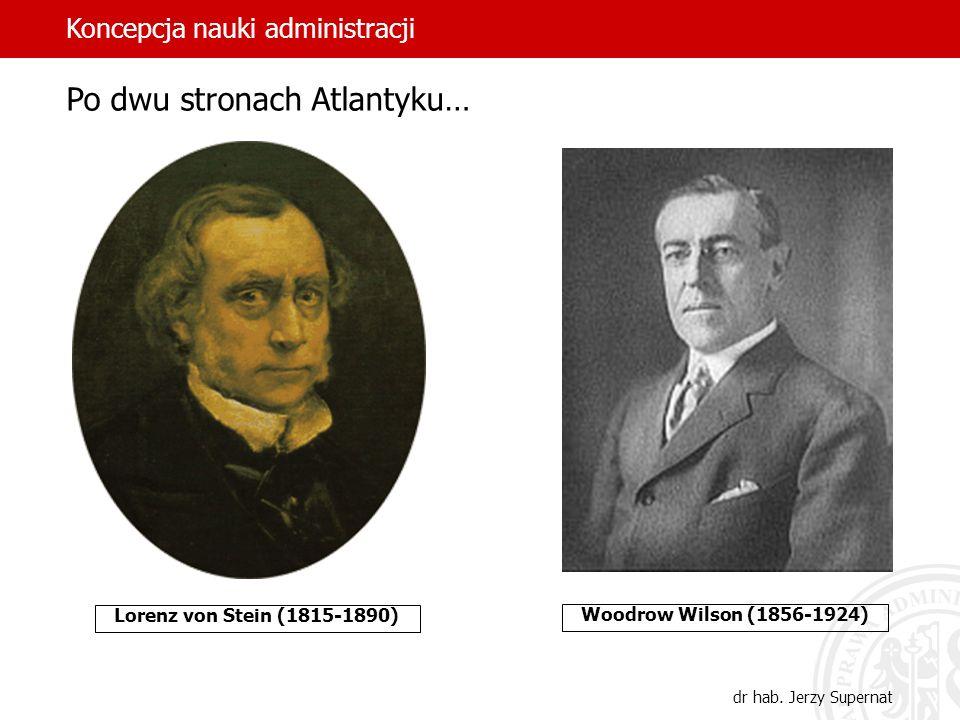 12 Lorenz von Stein (1815-1890) Woodrow Wilson (1856-1924) Po dwu stronach Atlantyku… Koncepcja nauki administracji dr hab. Jerzy Supernat