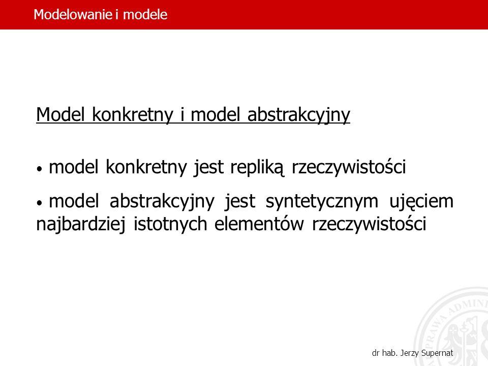 11 Typologia modeli konkretny i abstrakcyjny statyczny i dynamiczny deterministyczny i probabilistyczny normatywny (preskryptywny) i opisowy (deskrypt