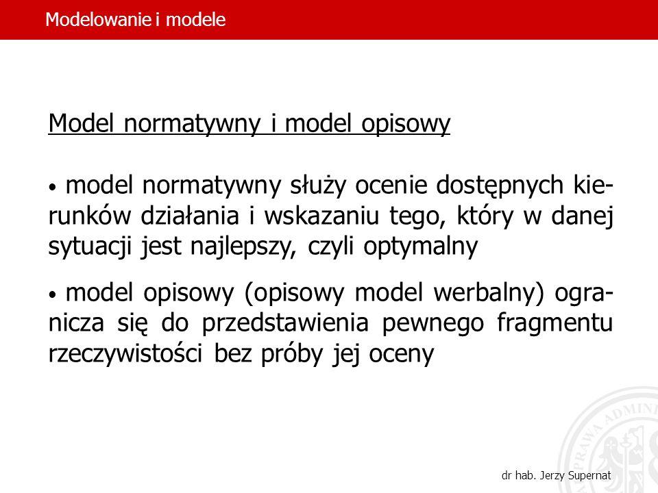 15 Model deterministyczny i probabilistyczny model deterministyczny przedstawia wartość każdej zmiennej decyzyjnej przy pomocy jednej wielkości model