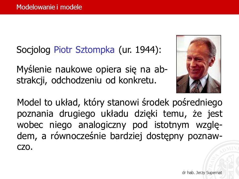 4 Prawnik Jacek Giezek (ur. 1958): Wszelka dogmatyczna abstrakcja i odnosząca się do niej teoretyczna refleksja opiera się z natury rzeczy na modelowa