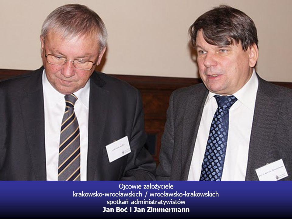 Ojcowie założyciele krakowsko-wrocławskich / wrocławsko-krakowskich spotkań administratywistów Jan Boć i Jan Zimmermann