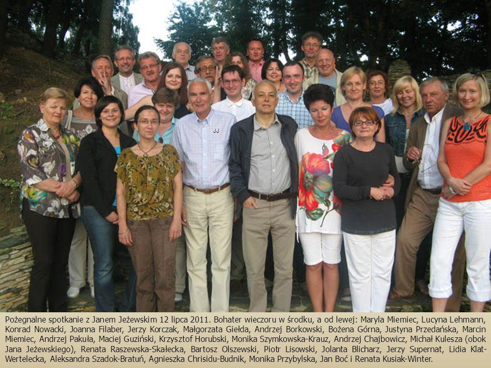 Pożegnalne spotkanie z Janem Jeżewskim 12 lipca 2011.