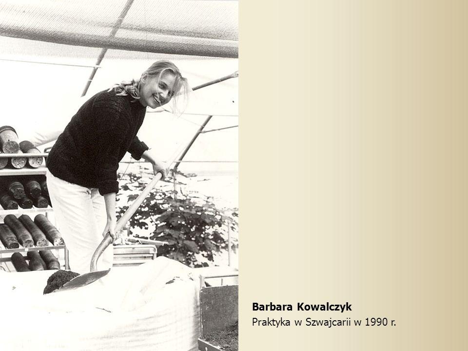 Barbara Kowalczyk Praktyka w Szwajcarii w 1990 r.