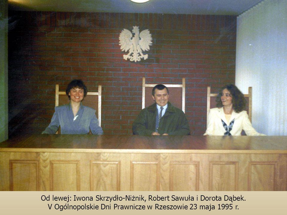 Od lewej: Iwona Skrzydło-Niżnik, Robert Sawuła i Dorota Dąbek.