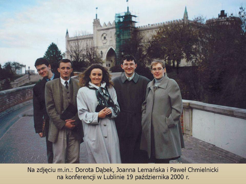 Na zdjęciu m.in.: Dorota Dąbek, Joanna Lemańska i Paweł Chmielnicki na konferencji w Lublinie 19 października 2000 r.